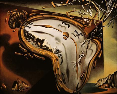 柔らかい時計 パネルプリント