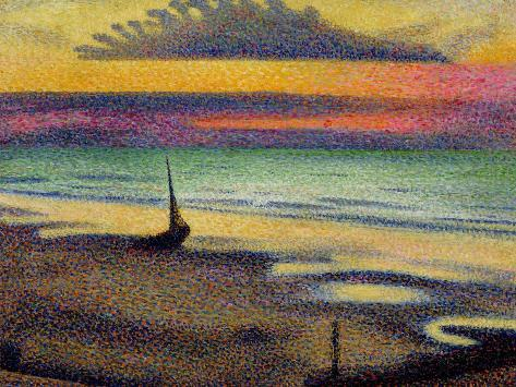 オールポスターズの ジョルジュ レメン the beach at heist 1891 92