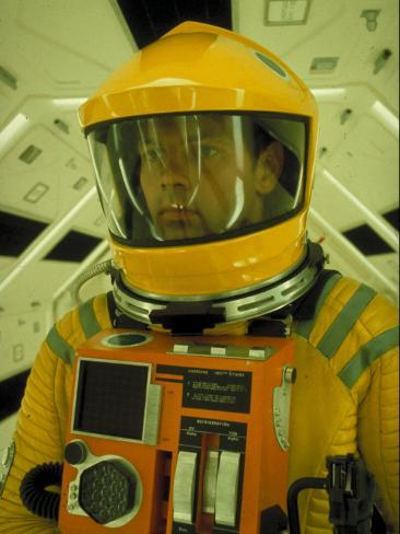 Close Up Portrait of Actor in Astronaut Suit on the Set of the Movie