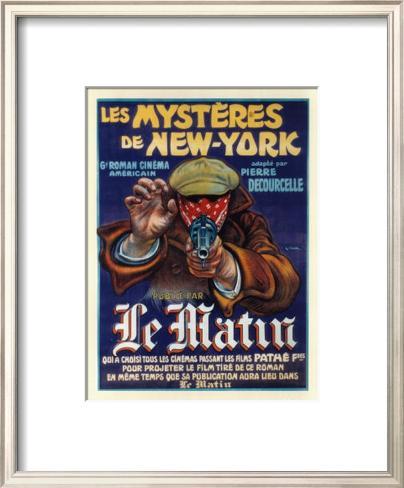 ニューヨークの神秘 額入りアートプリント