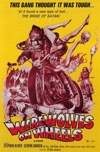 バイクに乗ったオオカミ男たち マスタープリント