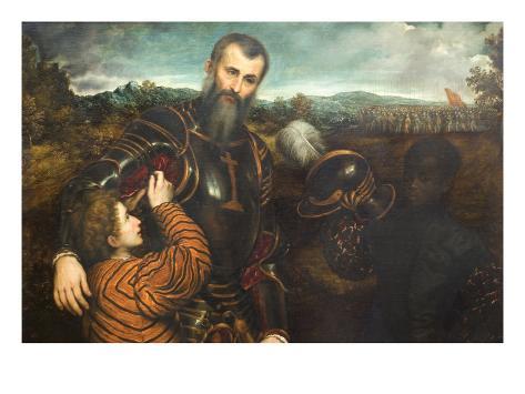 オールポスターズの パリス ボルドーネ portrait of a man in armor