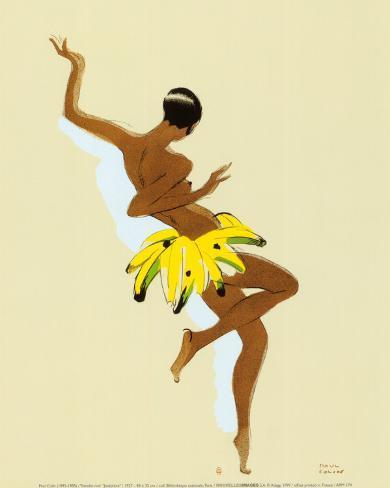 黒い稲妻 - ジョセフィン・ベーカー アートプリント