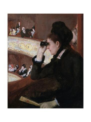 オールポスターズの メアリー カサット in the loge by mary cassatt