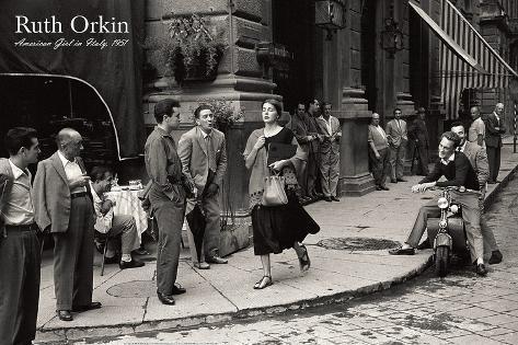オールポスターズの ルース オーキン イタリアにいるアメリカ人の少女