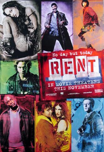 レント(2005年) 両面印刷ポスター