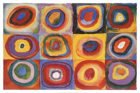 正方形の色彩の習作, 1913 ポスター