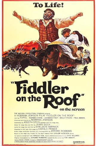 屋根の上のバイオリン弾き(1971年) アートプリント