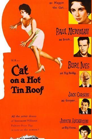 熱いトタン屋根の猫 アートプリント