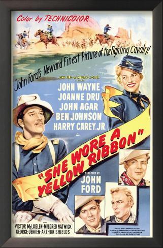 黄色いリボン(1949年) 額入りアートプリント