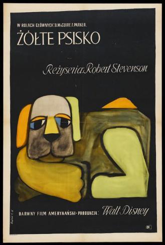 黄色い老犬 ポスター
