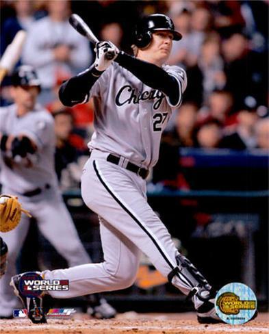05 World Series Game 3 - Geoff Blum / Game Winning Home Run Photo