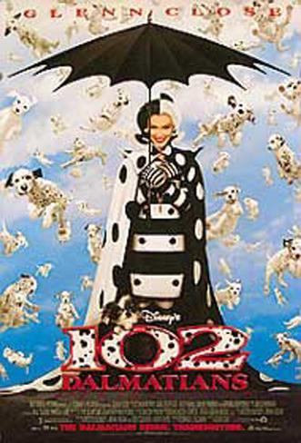 102 Dalmatians Double-sided poster