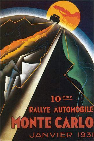 10eme Rallye Automobile Monte Carlo Stretched Canvas Print