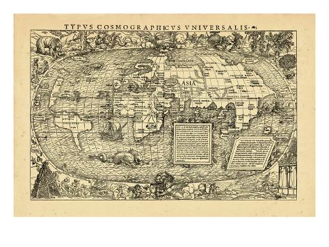 1555, World Stretched Canvas Print
