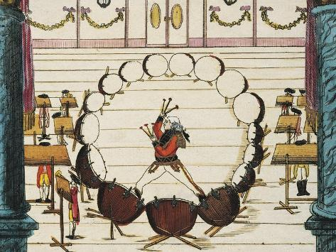 16 Drums, Drum and Orchestra Concert Held, 1798, to Honor Presence of Imperial Majesty Giclee Print