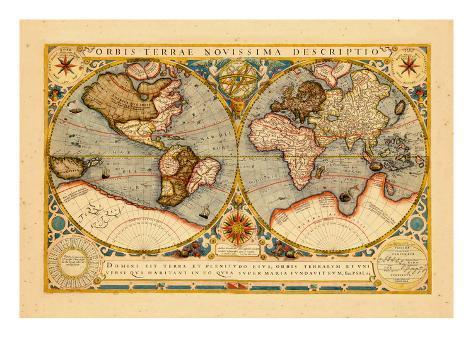1602, World Giclee Print