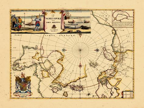 1680, North Pole, World Giclee Print