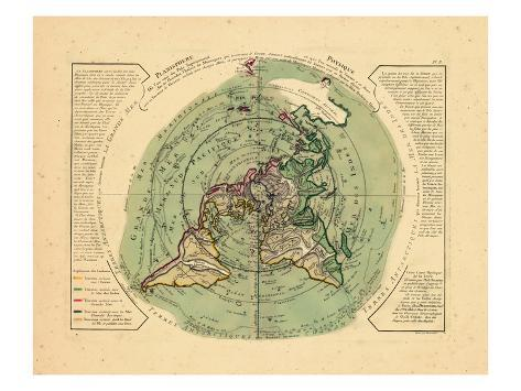 1756, World Stretched Canvas Print