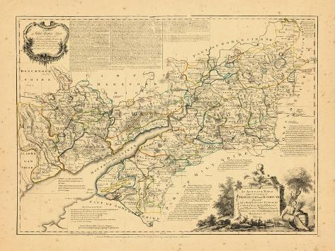 1760, Gloucester and Monmoth, United Kingdom Giclee Print