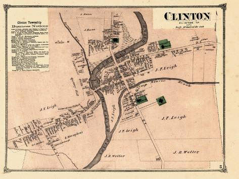 1873, Clinton, New Jersey, United States Giclee Print