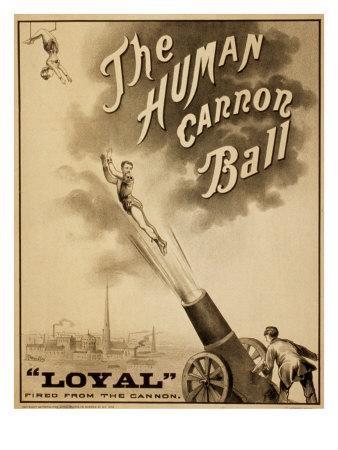 Circus Poster 19th Century Stock Photos & Circus Poster ... |Human Cannonball Circus Poster