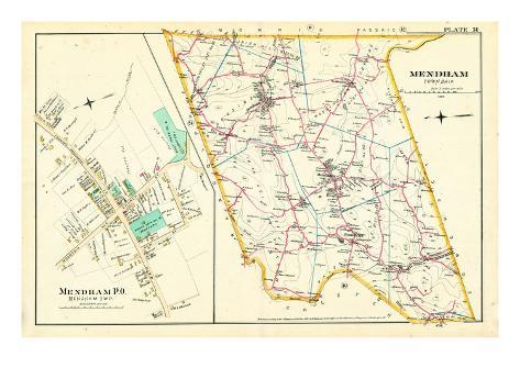 1887, Mendham Township, Mendham P.O., New Jersey, United States Giclee Print