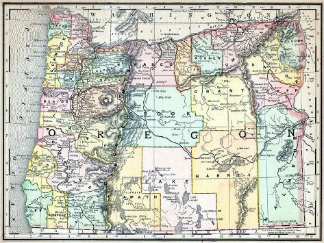 1890, United States, Oregon, North America Giclee Print