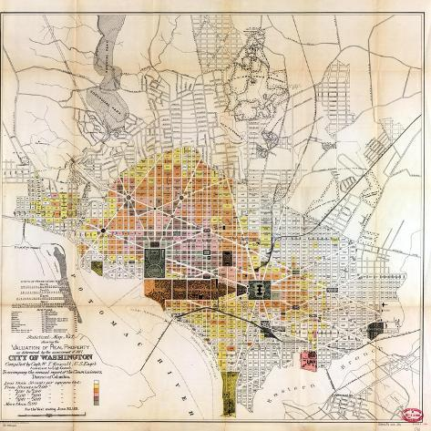 1891, Valuation of Real Property, District of Columbia, United States Giclee Print