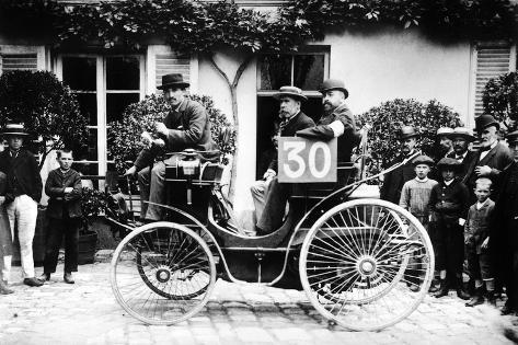 1894 paris to rouen race marchand in peugeot photographic print at. Black Bedroom Furniture Sets. Home Design Ideas