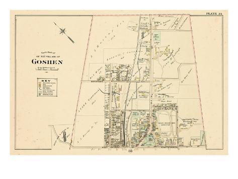 1903, Goshen Village - North, New York, United States Giclee Print