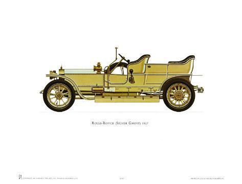 1907 Rolls-Royce Silver Ghost Art Print