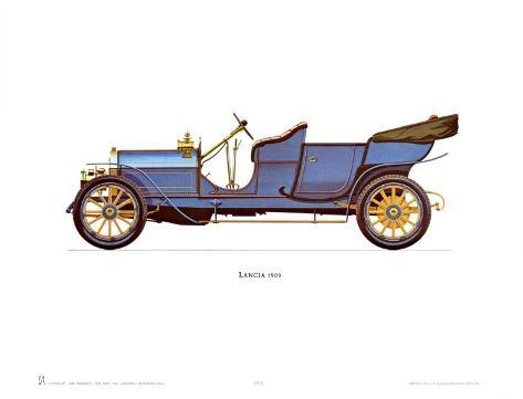 1909 Lancia Art Print