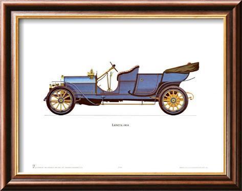 1909 Lancia Lamina Framed Art Print