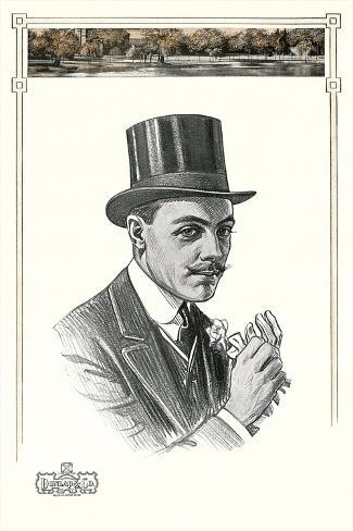 1910s Dunlap and Co. Man's Hat Illustration Art Print