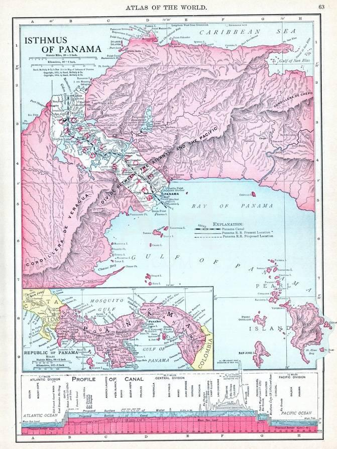 1913, Panama, Central America, Isthmus of Panama Giclee Print at ...