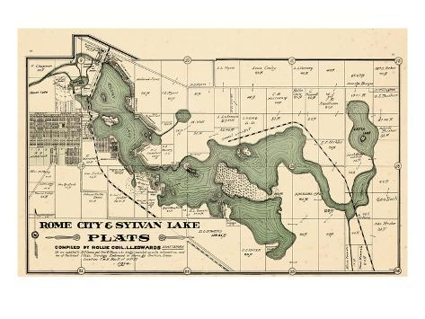 1914, Rome City and Sylvan Lake, Indiana, United States Giclee Print