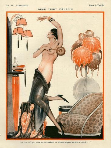 1920s France La Vie Parisienne Magazine Plate Stampa giclée