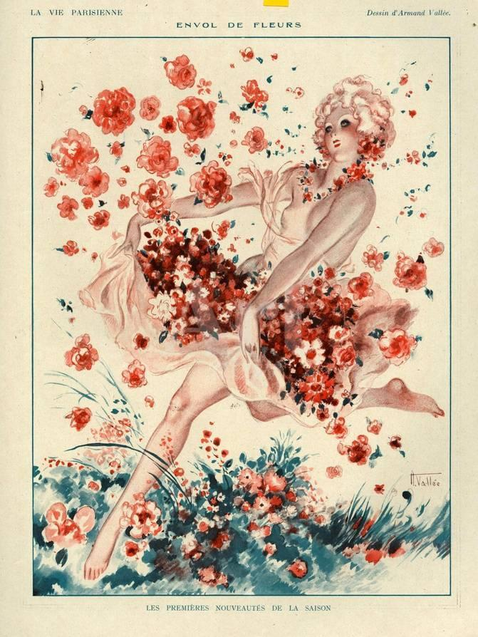 1920s France La Vie Parisienne Magazine Plate Giclee Print At
