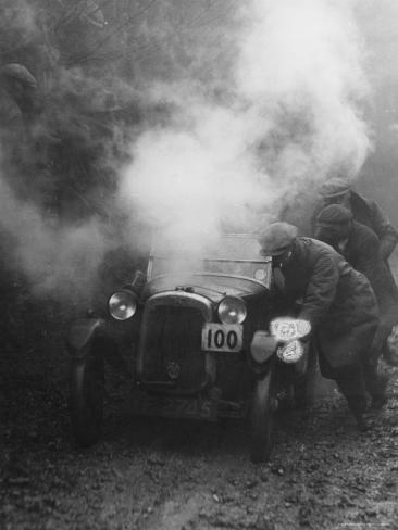 1928 Austin 7 Gordon England Cup at the Exeter Trial Struggling Uphill Photographic Print