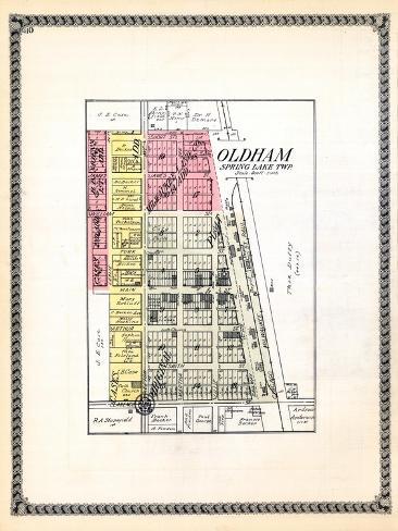 1929, Oldham, South Dakota, United States Giclee Print