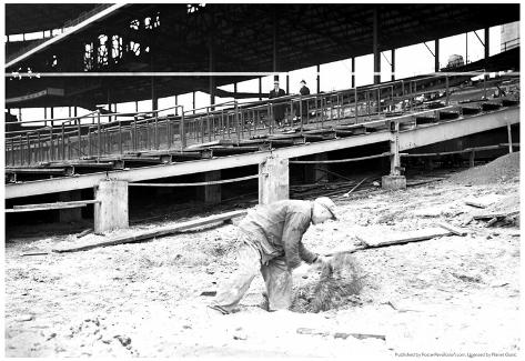 1930 Wrigley Field Construction Archival Photo Poster Poster