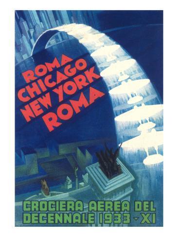 1933 Air Show Poster Art Print