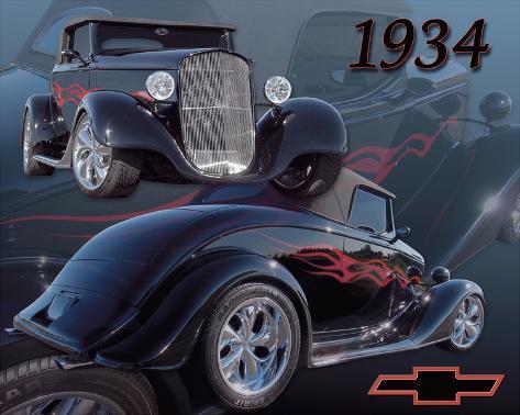 1934 Chevy Stampa su tela