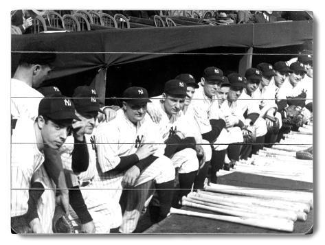 1937 World Series New York Yankees Wood Sign