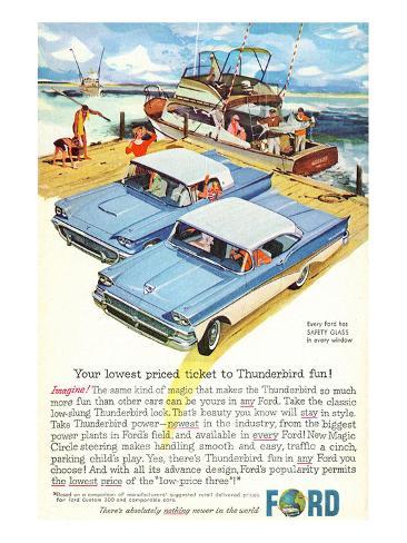 1958 Thunderbird- Price Ticket Stampa artistica