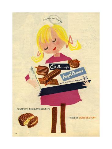 1960s UK Cadbury's Magazine Advertisement Giclée-vedos