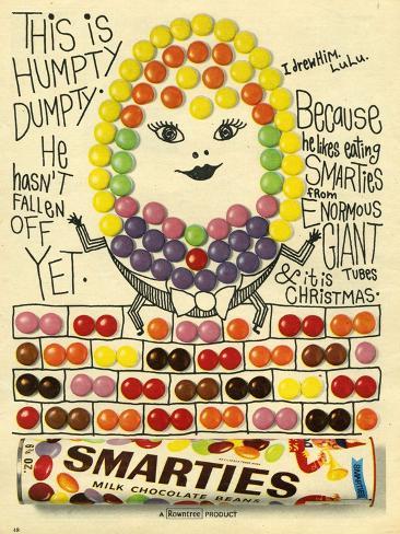 1960s UK Smarties Magazine Advertisement Giclee Print