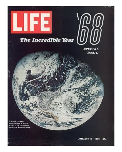 1968 Special Issue, NASA Shot of Earth from Space, Apollo ...