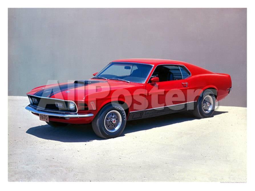 1970 Ford Mustang Mach 1 Lámina giclée en AllPosters.es